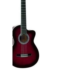 AC965H - Cutaway Klasik Gitar (Kırmızı Kenarlar Siyah Gölgeli)