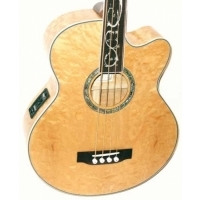 Dragonfly 4 Telli Fretless Akustik Bass Gitar - Natural