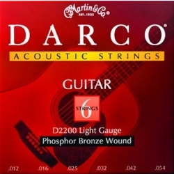 D2200 - Darco Phosphor Bronze (Light) 12-54 Akustik Gitar Teli