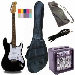 RF20PACK - Strat Elektro Gitar Paket (Siyah)