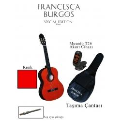 CG851F RD - 34'' 2/4 Klasik Gitar (Kırmızı)