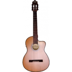 Cross Cut-Away Elektro Klasik Gitar