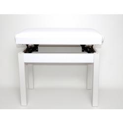 Ayarlı Piyano Taburesi (Beyaz)