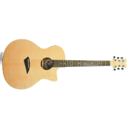 Ax Flame Gloss Naturel - Elektro Akustik Gitar