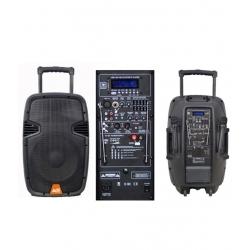 PAQ-15AB 15 Watt Taşınabilir Çift Mikrofonlu Şarjlı Amfi