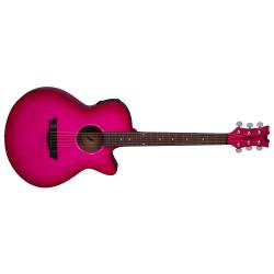 AXPEPB - AXS Performer Elektro Akustik Gitar - Pink Burst